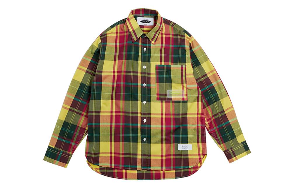 Summer Ombre Check-shirts (green)